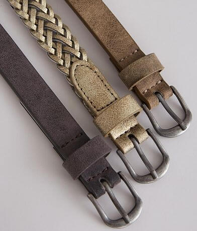 BKE Basic Skinny Belt Set