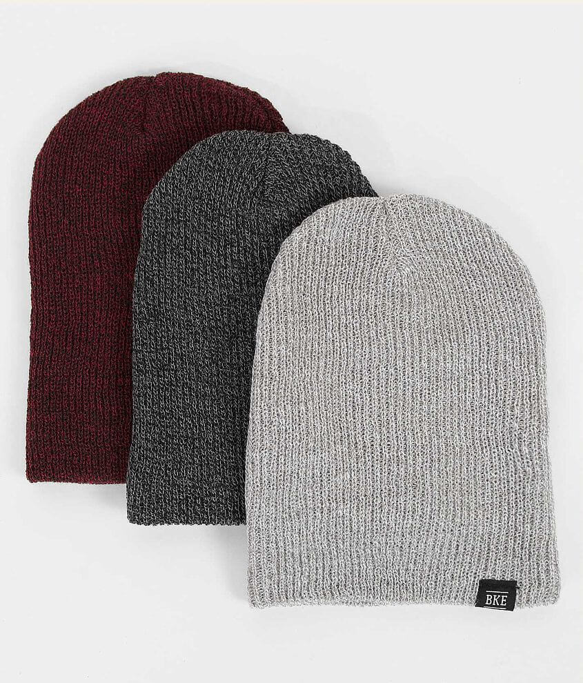BKE Bex Three Pack Beanies front view