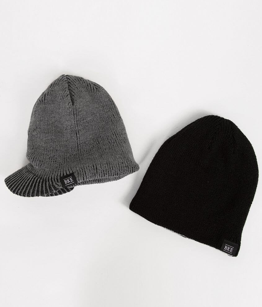 BKE Mullins Two Pack Beanies front view