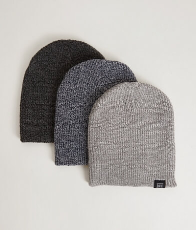 BKE John Three Pack Beanies