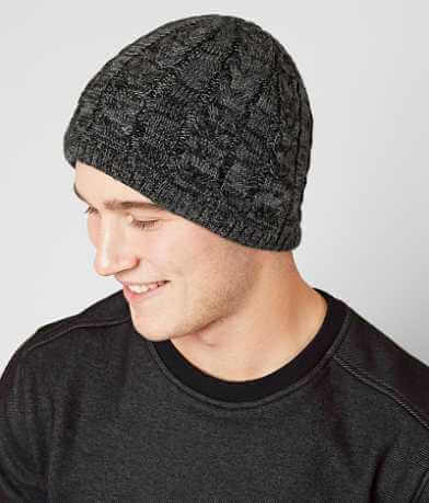 Buckle Black Knit Beanie