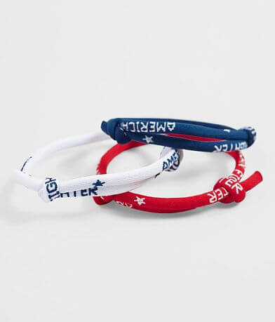 American Fighter Act Bracelet Set