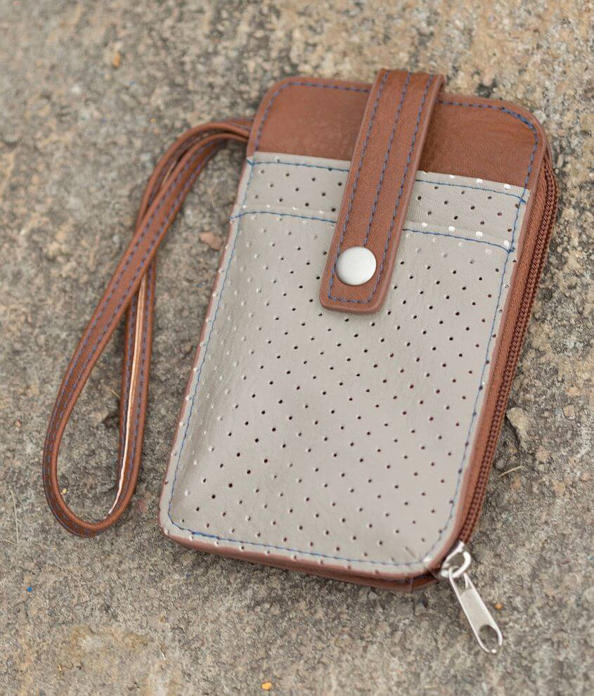 Women's Perforated Wristlet Wallet front view