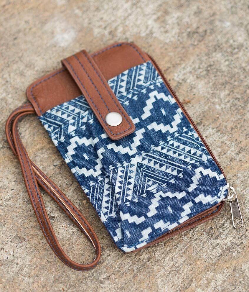 Women's Southwestern Wristlet Wallet front view