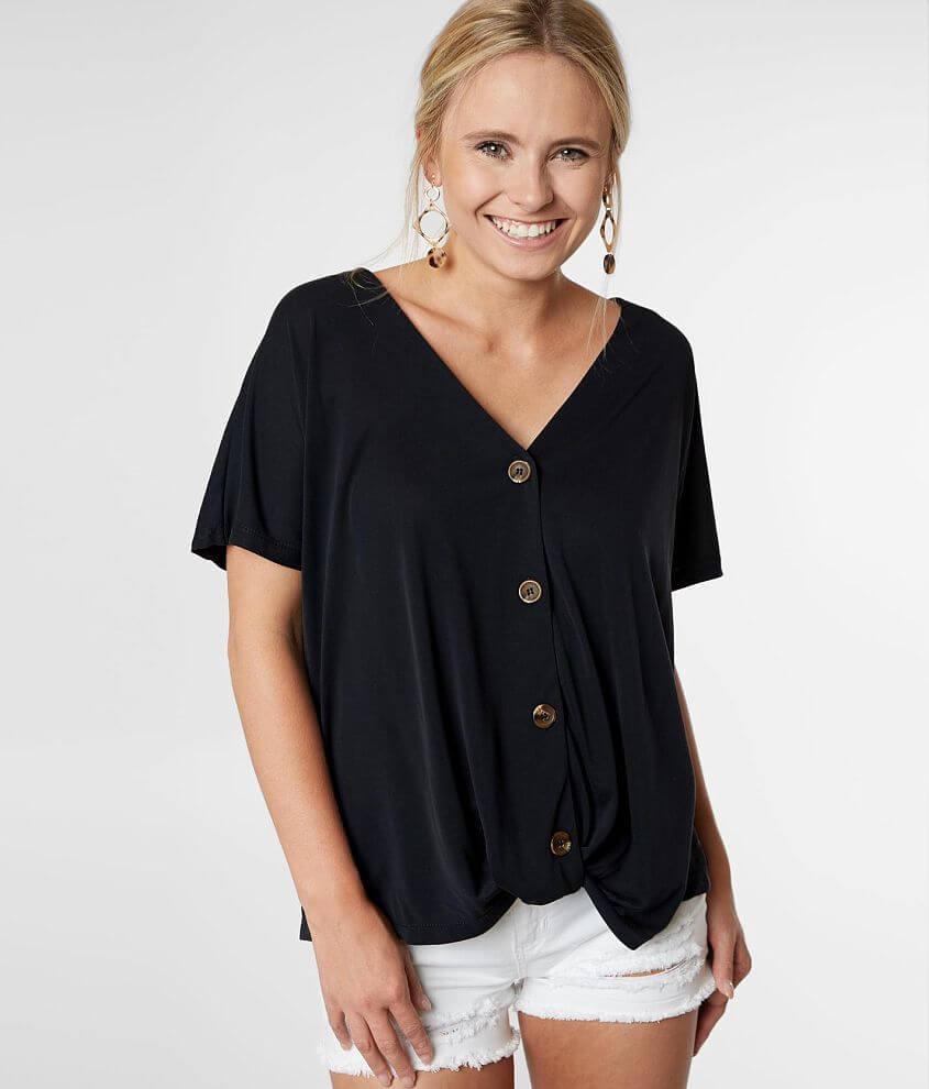 Modal blend v-neck blouse Back crochet applique Bust measures 43\\\