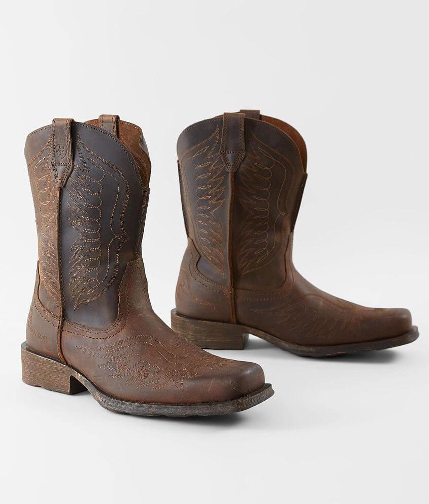 mens brown cowboy boots free shipping