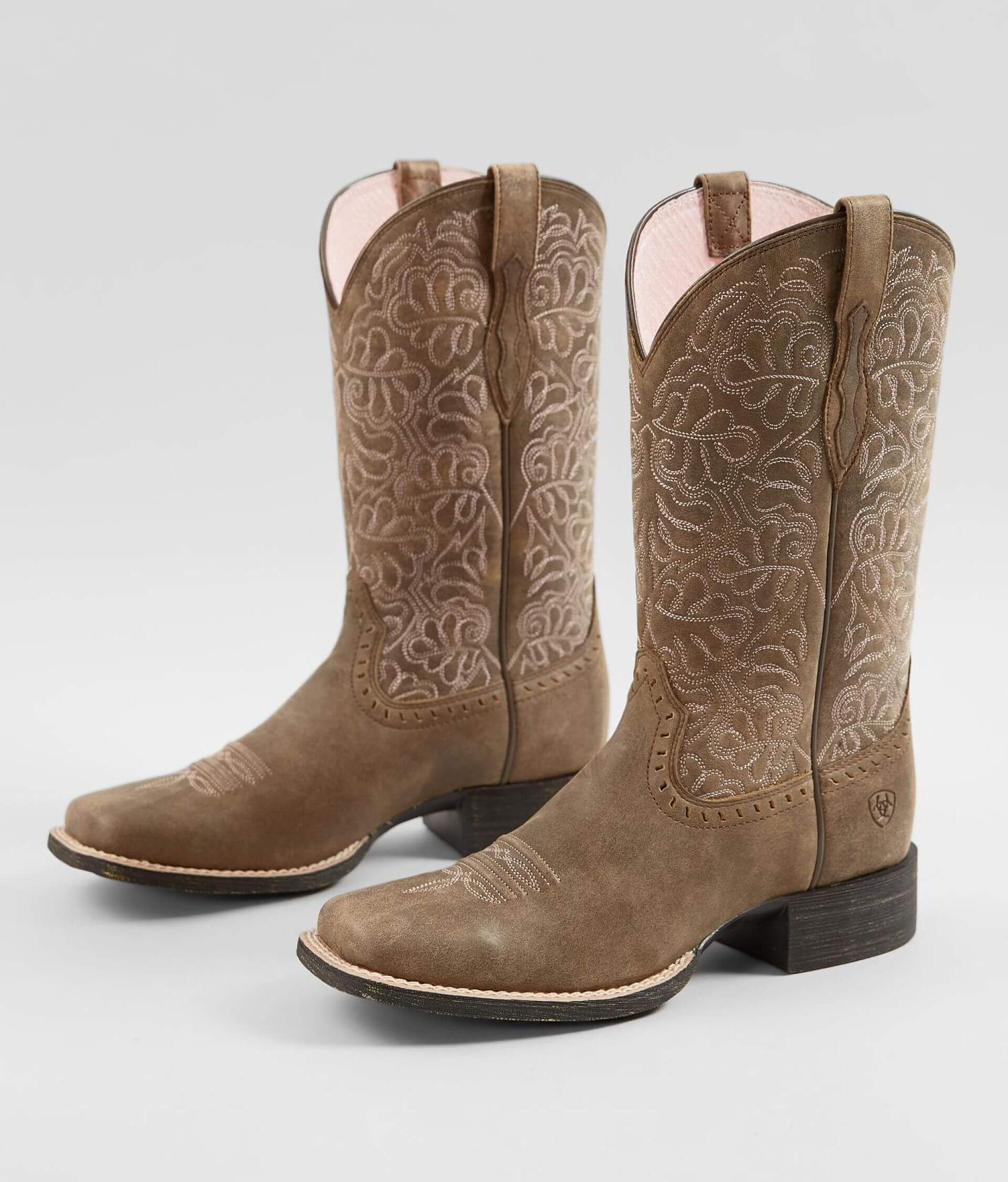 d8c1da2b49a Ariat Round Up Remuda Leather Western Boot - Women's Shoes in Brown ...