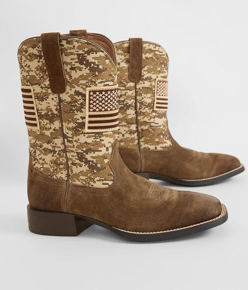 Ariat Sport Patriot Leather Cowboy Boot Men's Shoes in