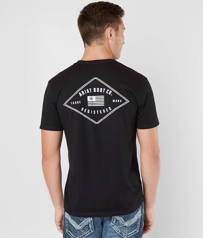 db85caf56d Ariat Registered T-Shirt - Men's T-Shirts in Black | Buckle