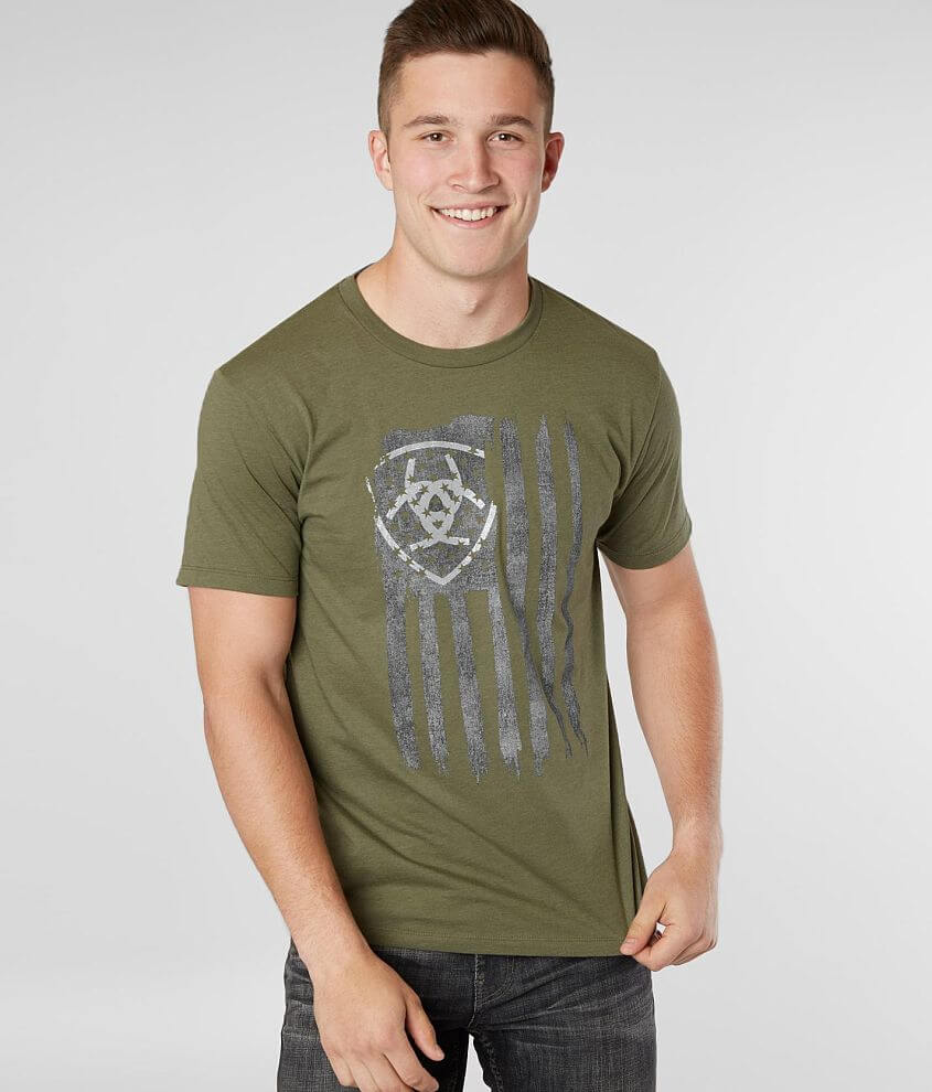 Distressed graphic heathered t-shirt Model Info: Height: 6\\\'3\\\