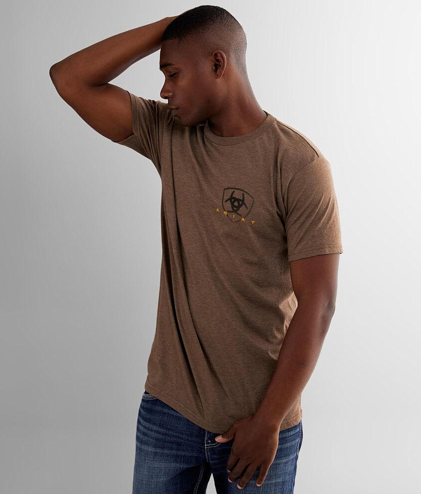 Graphic heathered t-shirt Model Info: Height: 6\\\' Chest: 38 1/2\\\