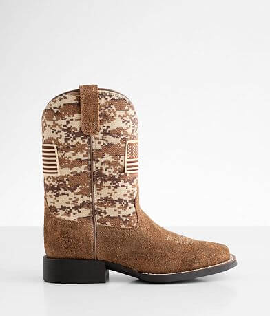 Boys - Ariat Patriot Leather Cowboy Boot