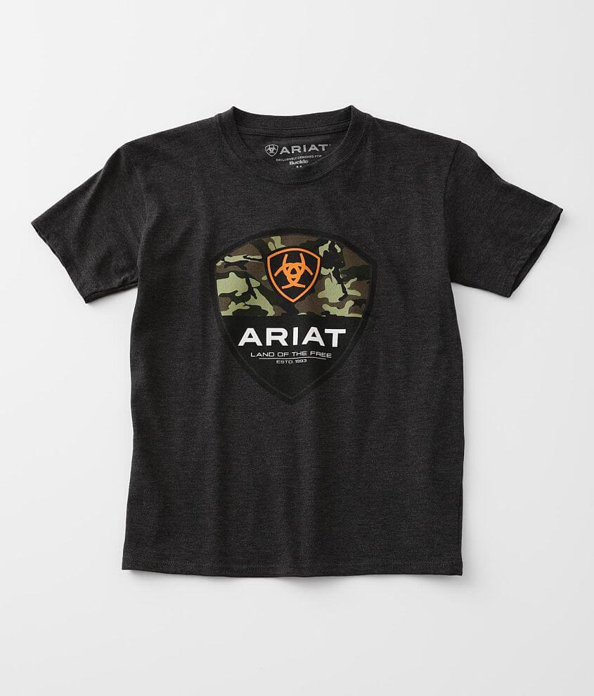 Boys - Ariat Split Shield T-Shirt front view