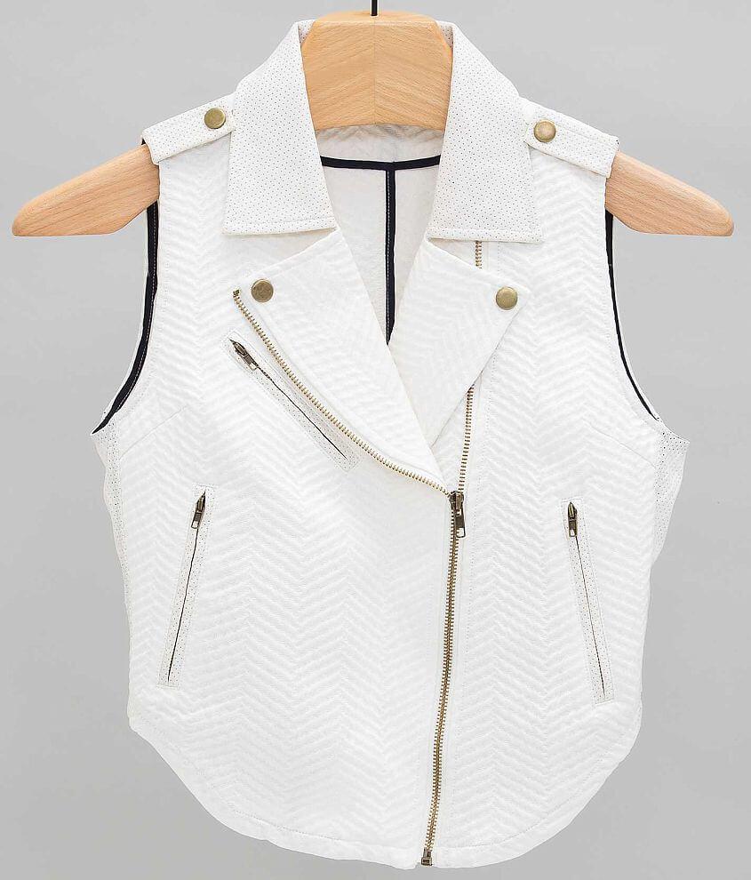 ark & co. Asymmetric Zip Vest front view