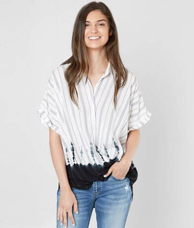 the room Striped Surplice Blouse