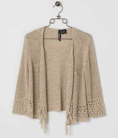 BKE Boutique Tape Yarn Cardigan Sweater