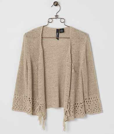BKE Boutique Tape Yarn Cardigan Sweater