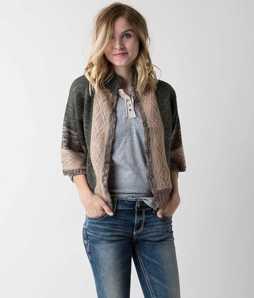Gimmicks Marled Cardigan Sweater front view