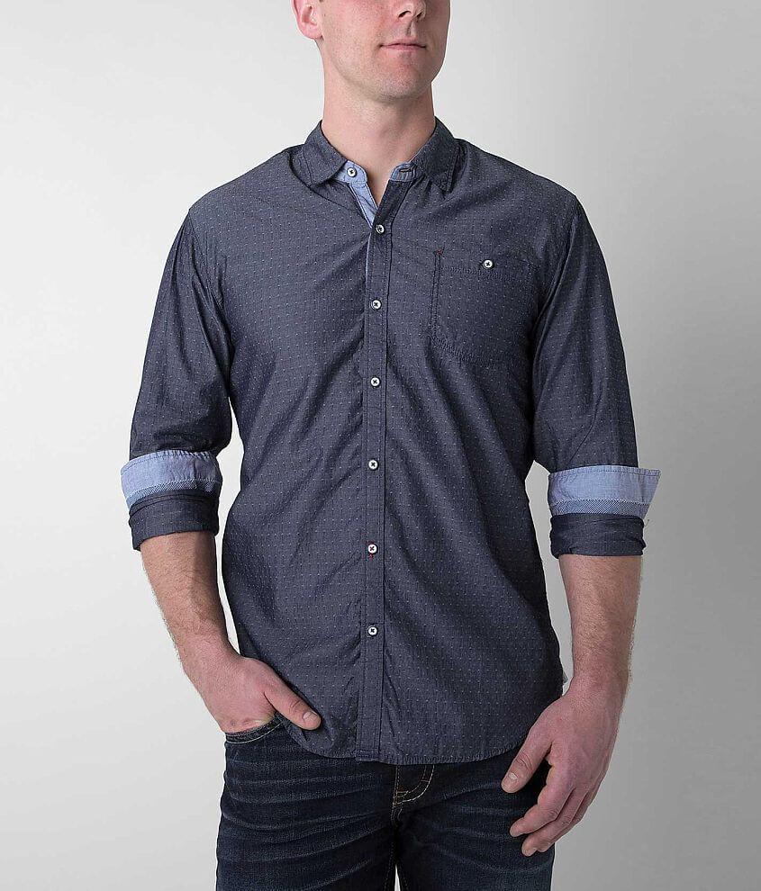 MB Denim Wear Diamond Dobby Shirt front view