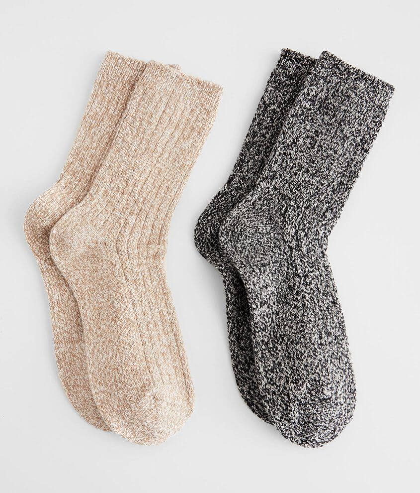 BKE 2 Pack Marled Socks front view