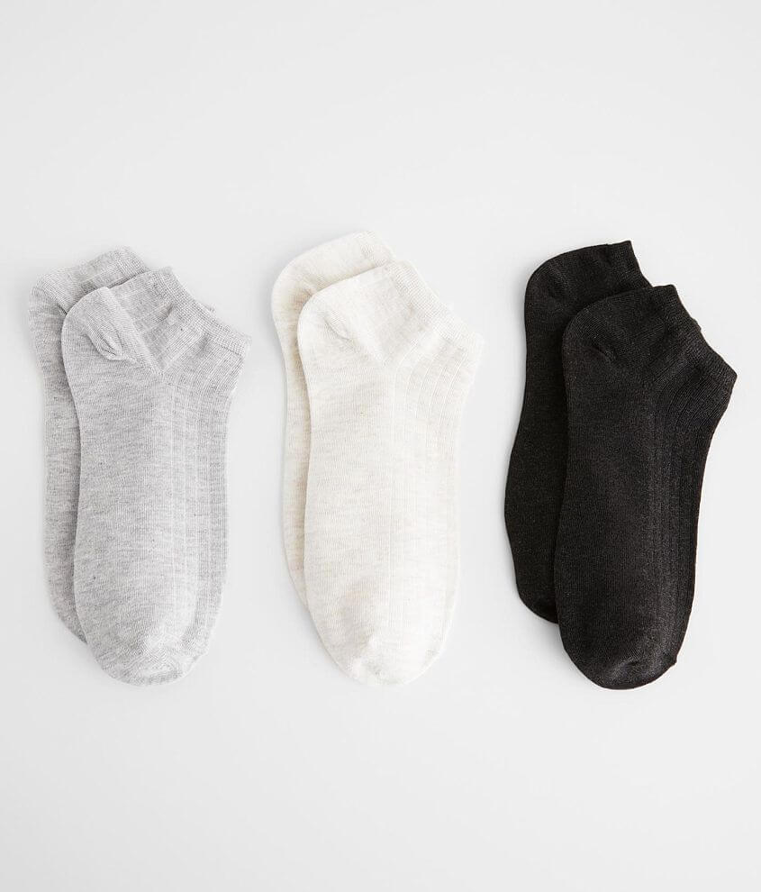 BKEssentials 3 Pack Ankle Socks front view