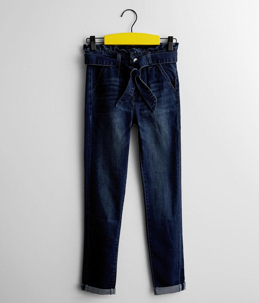 Girls - Gloss & Glitter High Rise Ankle Jean front view