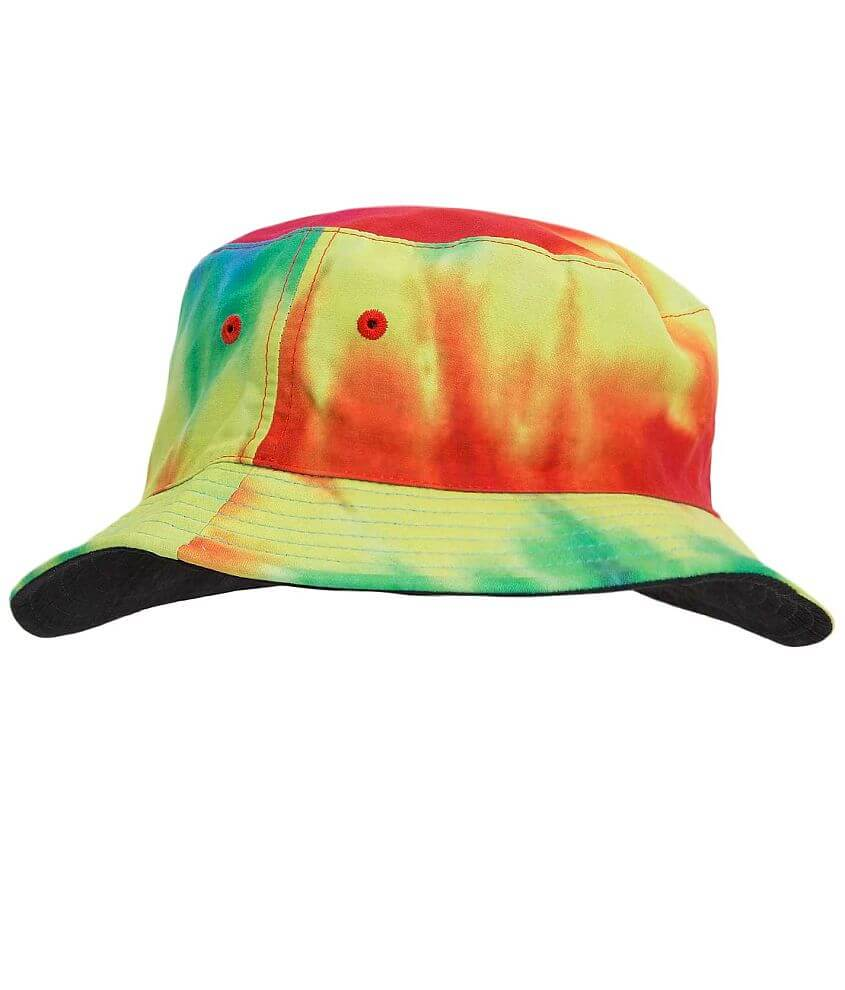 Asphalt Tripped Out Bucket Hat front view