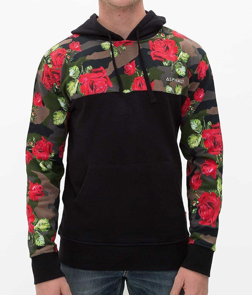 Asphalt Floral Camo Sweatshirt front view