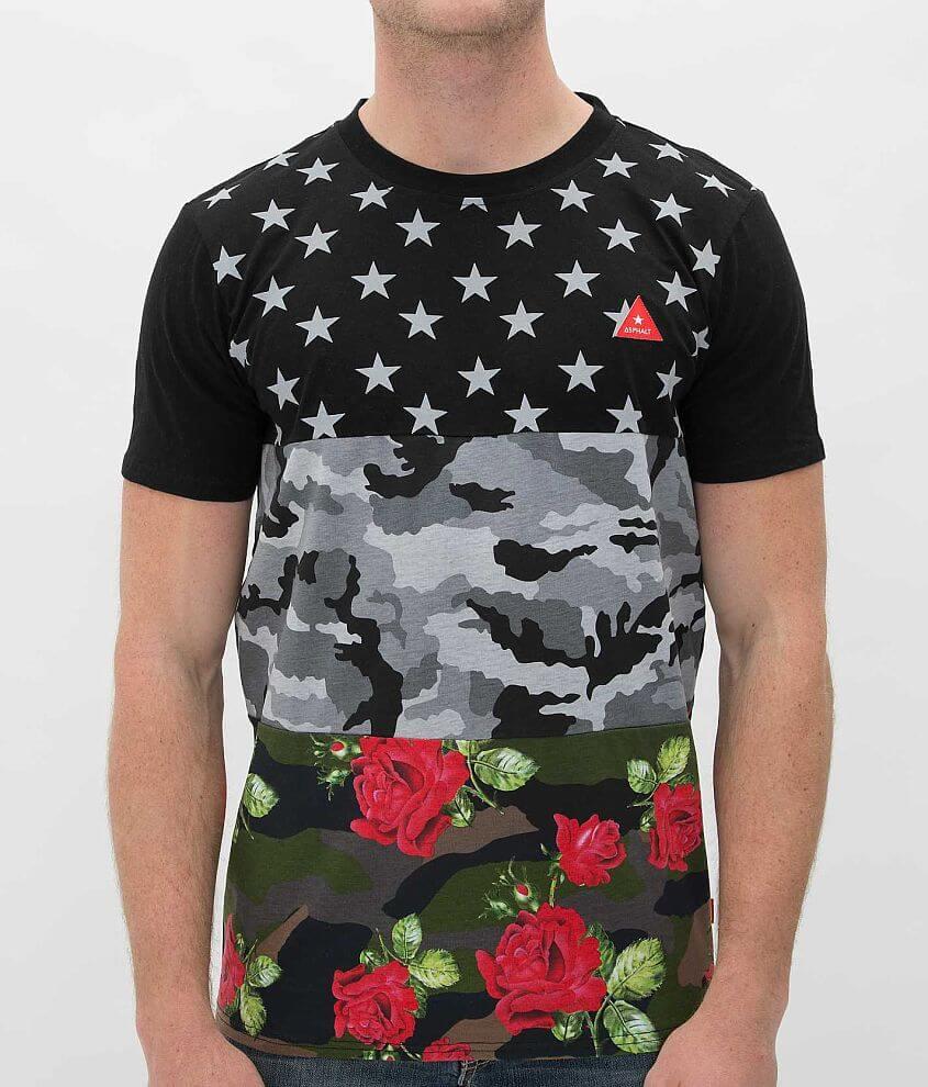 Asphalt Triple Print T-Shirt front view