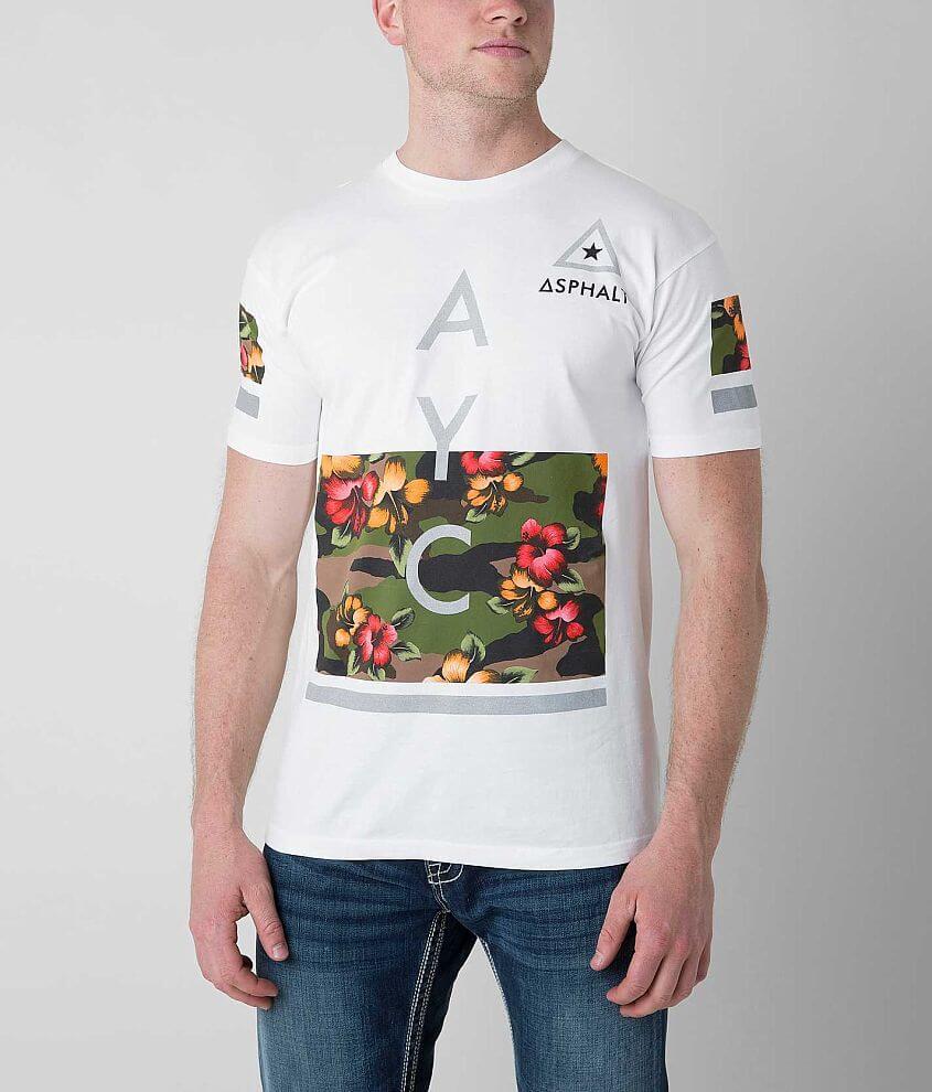 Asphalt Modern Floral Camo T-Shirt front view