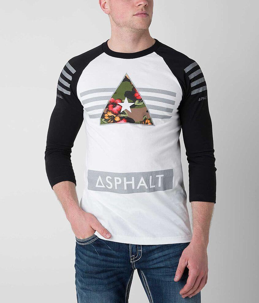 Asphalt General Floral Camo T-Shirt front view