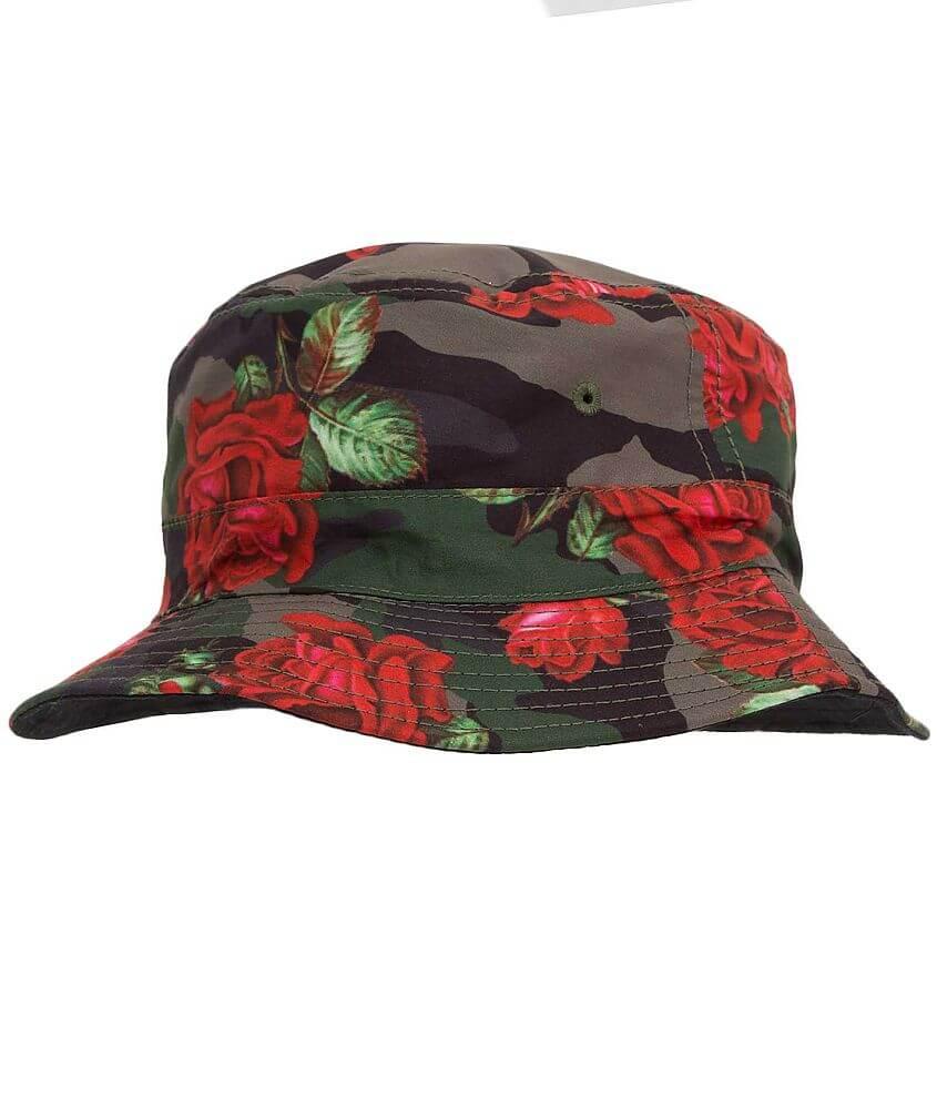 Asphalt Floral Camo Bucket Hat front view