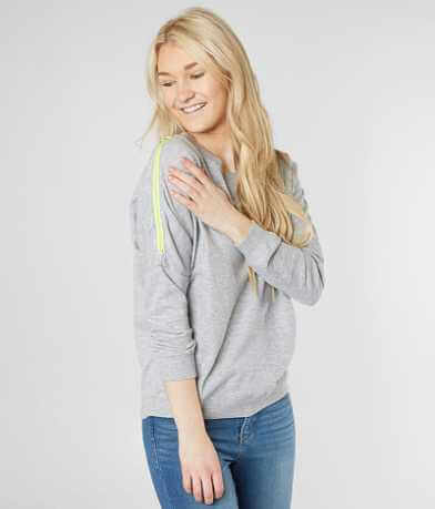 alison andrews Cold Shoulder Sweatshirt