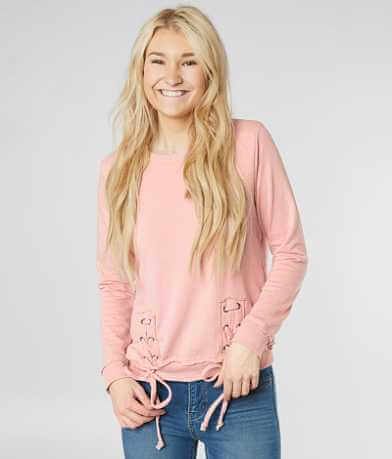 alison andrews Lace-Up Sweatshirt