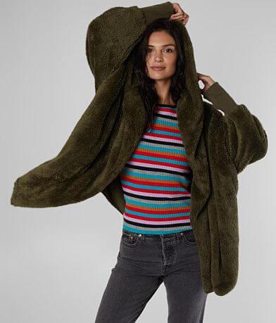 alison andrews Oversized Faux Fur Jacket