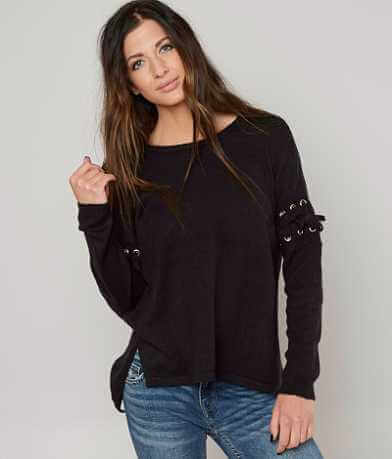 alison andrews Lace-Up Sweater