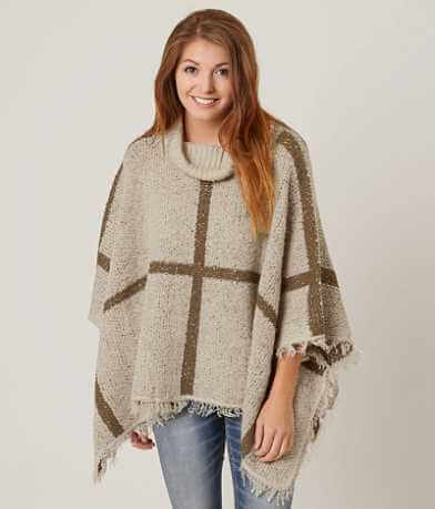 Daytrip Striped Sweater Poncho