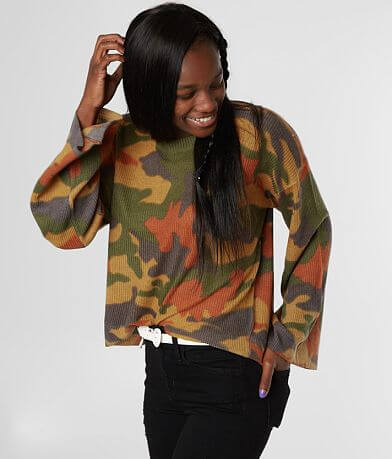 Gilded Intent Camo Pullover Sweater