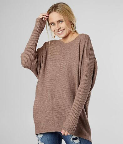 BKE Ribbed Knit Pullover Sweater
