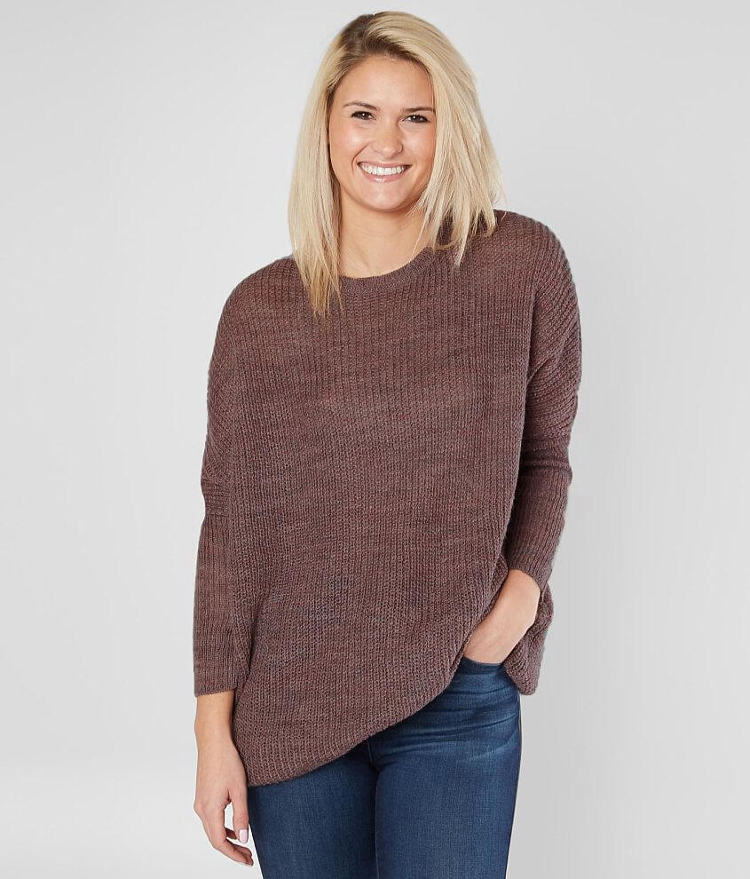 Solutions Oversized Tunic Sweater Womens Sweaters In Plum Buckle