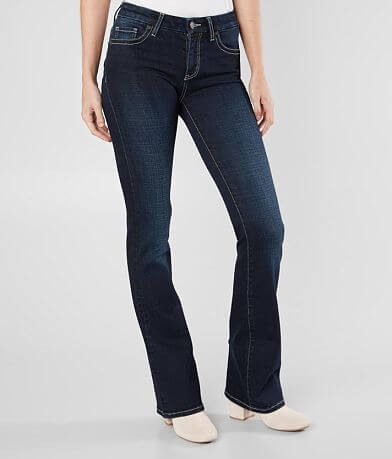 BKE Stella Mid-Rise Flare Jean