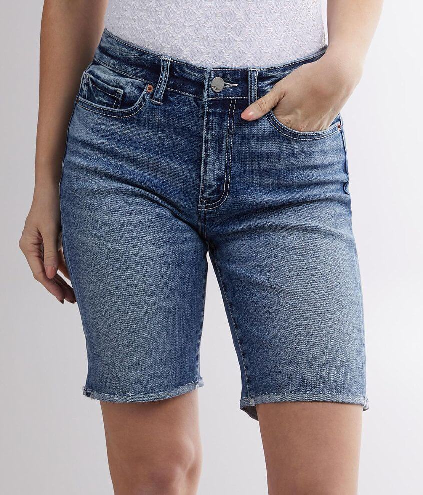 BKE Stella Mid-Rise Stretch Cuffed Short front view