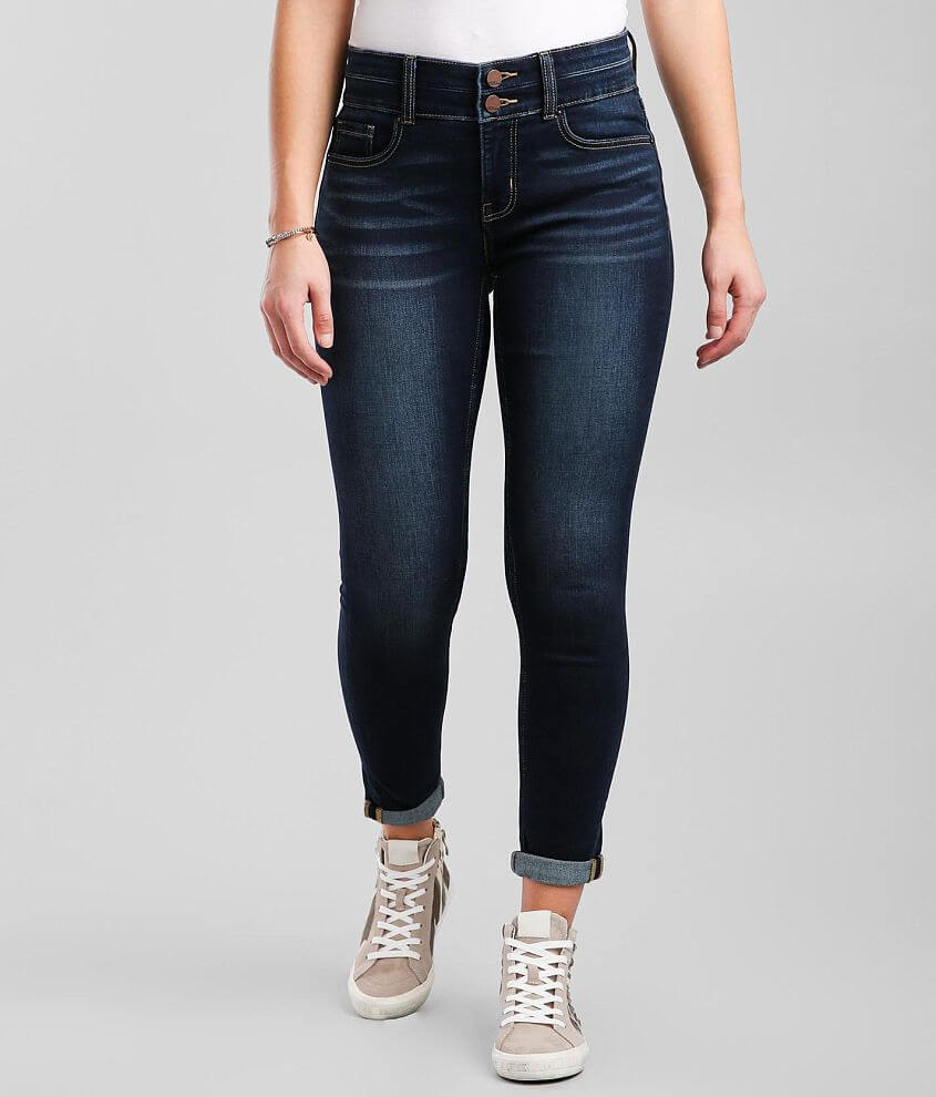 BKE Gabby Ankle Skinny Stretch Cuffed Jean front view