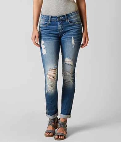 BKE Stella Mid-Rise Straight Stretch Jean