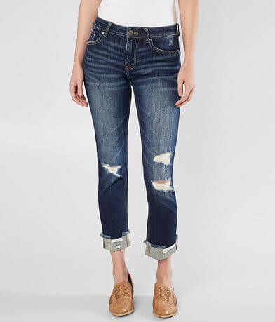 BKE Stella Mid-Rise Ankle Straight Stretch Jean