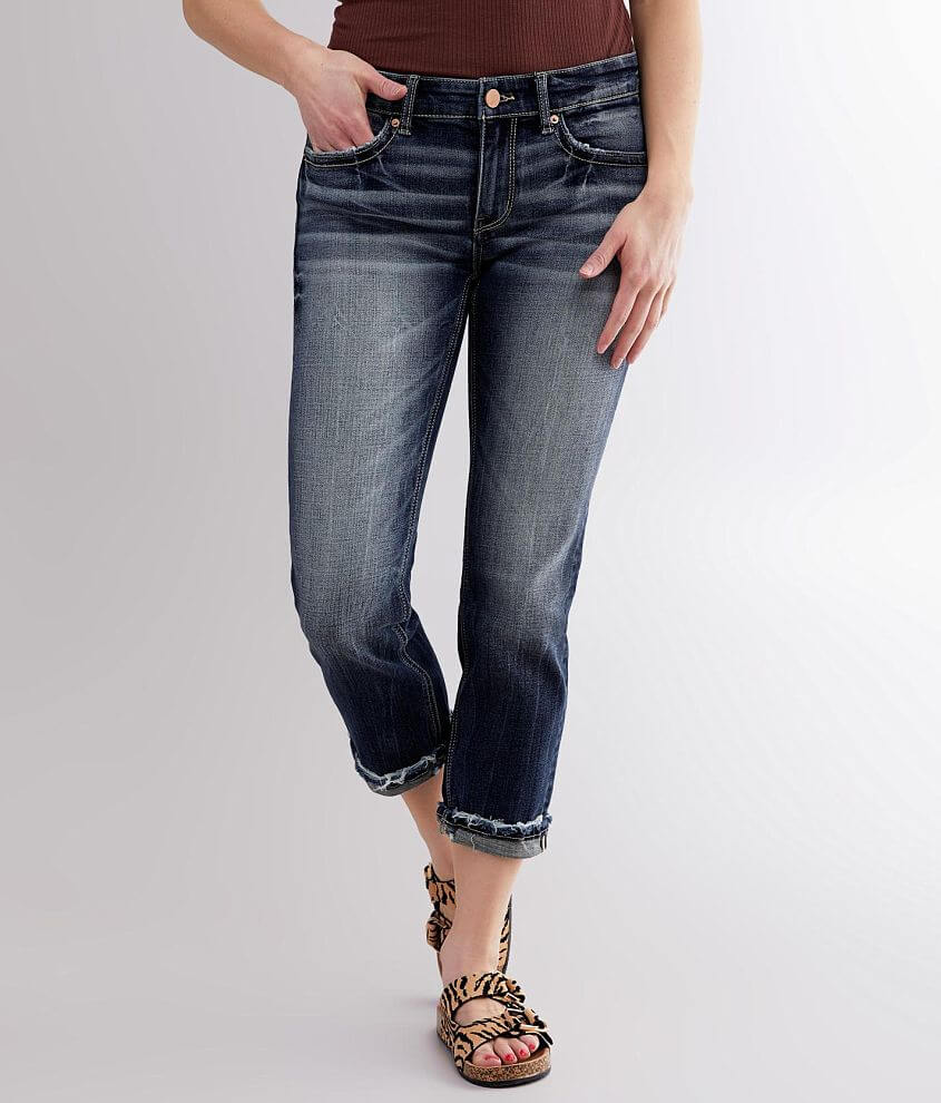 BKE Payton Mid-Rise Stretch Cropped Jean front view