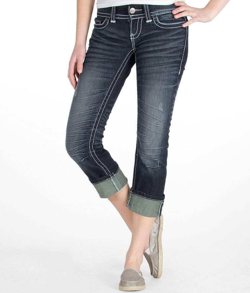 BKE Sabrina Cuffed Cropped Jean front view