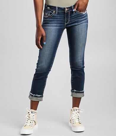 BKE Stella Cuffed Stretch Cropped Jean