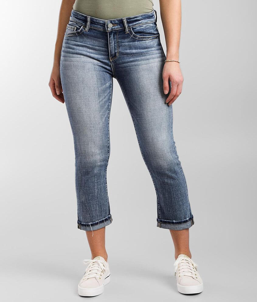 BKE Payton Cuffed Stretch Cropped Jean front view