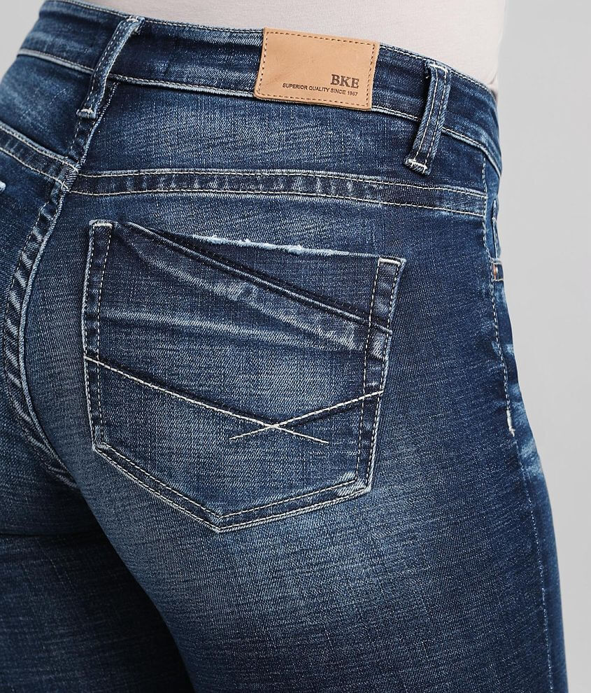 BKE Payton Straight Stretch Cuffed Jean front view